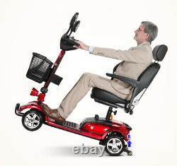 Electric Powered 4 Wheels Senior Mobility Scooter With LED Head Light &Stop Lamp