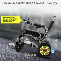 Electric Wheelchair Heavy Duty Power Lightweight Mobility Aid Foldable 24V 12Ah