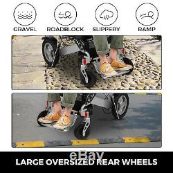 Electric Wheelchair Motorized Power Wheelchairs Folds Lightweight Heavy Duty