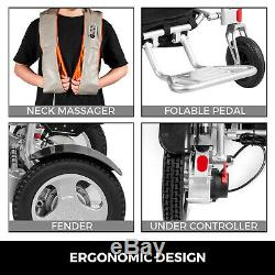Electric Wheelchair Motorized Power Wheelchairs Folds Lightweight Heavy Duty