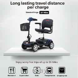 FOLD AND TRAVEL Electric 4 wheel Mobility Scooter Power Swivel Seat For Elderly