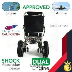 FOLD & TRAVEL Portable Heavy Duty Folding Electric Power Wheelchair for Adults
