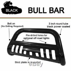 Fits 1994-2001 DODGE RAM 1500 3 inch Black Bull Bar Front Bumper Grill Guard