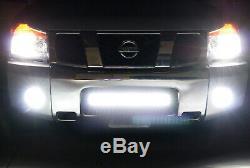 Flood/Spot Beam LED Light Bar withLower Bumper Mounts, Wiring For Nissan Titan
