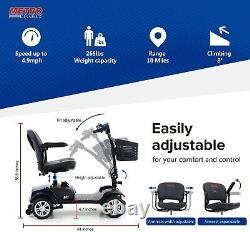 Folding Electric Powered Mobility Scooter 4 Wheel Wheelchair Travel Elder 4.9MPH