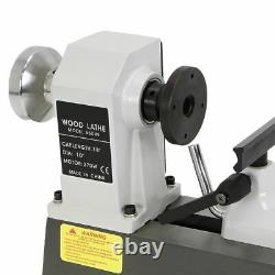 HEAVY DUTY 5 SPEED BENCH TOP POWER TURNING WOOD LATHE TOOLS 10 x 18