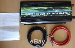 HEAVY DUTY Intelligent DC-AC Power Inverter 2000w cont 4kw max 12vDC-230vAC BNIB