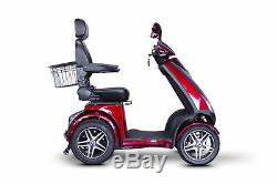 HIGH POWER eWheels EW-72 4-Wheel Electric Mobility Scooter 700W 500lbs Red
