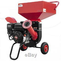 Heavy Duty 6.5HP 212cc Gas Powered 31 Wood Chipper Shredder with Wheel