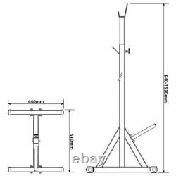 Heavy Duty Barbell Squat Stands Power Racks Bench Press Weight Lifting Uk Stock