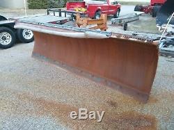 Heavy Duty Henke Snow Plow 11' hydraulic power angle Dump Truck Skid Steer