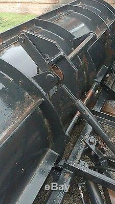 Heavy Duty Henke Snow Plow 11' hydraulic power angle Dump Truck Skid Steer Poly