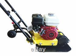 Heavy Duty Honda GX160 Vibratory Plate Compactor Gas Power Recoil Start Walk