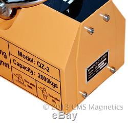 Heavy Duty Industrial Magnetic Lifter with 4,400 LB Lifting Power Neodymium Magnet