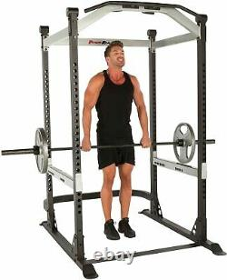 Heavy Duty Olympic Power Cage Squat Rack w Pullup Bar X-Class 1500 LB Capacity