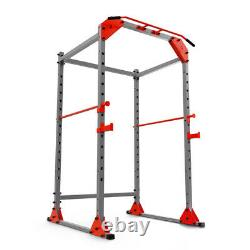 Heavy Duty Power Cage Squat Rack Bench Press Pull Up Dip Station Home Gym
