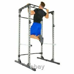 Heavy Duty Power Cage Squat Rack with Pullup Station, Safety Bars