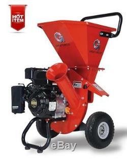 Heavy Duty Pro Wood Chipper Shredder 7HP 212cc Gas Powered 3 IN 1 Multi-Function