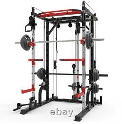 Heavy Duty Smith Machine Power squat Rack Pull Down Dip Bar Bench Press Home Gym
