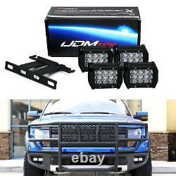 High Power Dual LED Pods Fog Light Kit with Bracket Wiring For 2010-14 Ford Raptor