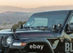 Hood LED Light Bar Kit with Hood Hinge Bracket, Wiring For 18-up Jeep Wrangler JL