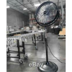 Industrial Metal Drum Fan 20 Strong Wind High Velocity Powerful Quiet Heavyduty