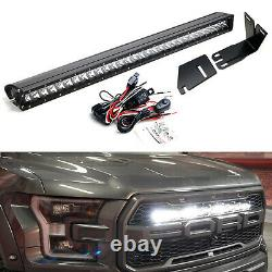 Invisible 30-Inch LED Light Bar withMounting Brackets, Wires For 17-21 Ford Raptor
