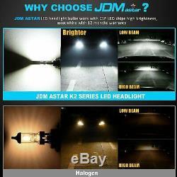 JDM ASTAR 2PCS K2 12000LM H11 H8 LED Xenon White All-in-One LED Headlight Bulbs