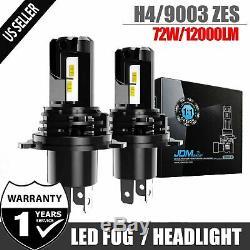 JDM ASTAR 2x H4/9003 LED Headlight High Low Dual Beam Driving Lamps White Xenon