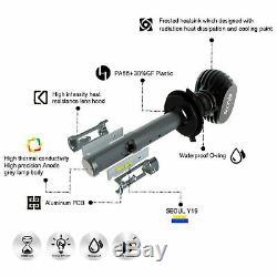 JDM ASTAR Pair 2G 8000Lm H11 H9 H8 LED Fog Driving Lights 6000K White Bulbs CSP