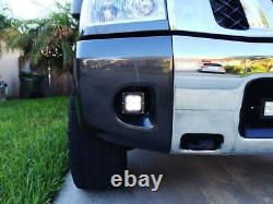 LED Pod Light Fog Lamps withBrackets, Wirings For Nissan 04-14 Titan, 05-07 Armada