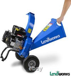 Landworks Mini Wood Chipper Shredder Mulcher Heavy Duty 7 HP 212cc Gas Powered