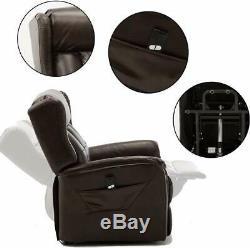 Leather Power Lift Recliner Chair Heavy Duty Padded Living Room Sofa for Elderly