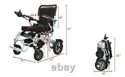 Lightweight Foldable Electric Wheelchair Motorized Heavy Duty Power Wheelchair