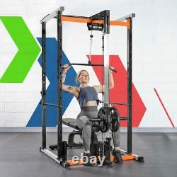 METIS Power Cage HEAVY DUTY SQUAT RACK / PULL UP STATION Pulley System