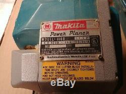Makita Power Planer Model 1100 Heavy Duty In Metal Carry Case