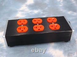 Maze Audio Six Outlet Power Strip Aluminum Chassis Heavy Duty Audiophile