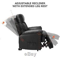 Merax Power Lift Chair Recliner in PU Leather Living Room Heavy Duty Mechanism
