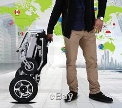 Mobile Wheelchair Electric Power Wheelchair Folds Lightweight Heavy Duty Chair