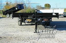 NEW 22' 14K Heavy Duty DECK OVER FLATBED POWER TILT Equipment Car Hauler Trailer