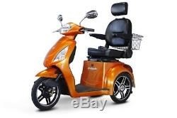NEW E-Wheels EW-36 3-Wheel 500W High Power Electric Mobility Scooter, Orange