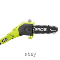 NEW Ryobi Limb Pruner Pole Saw Battery Powered Long Tree Trimmer Cordless Bundle