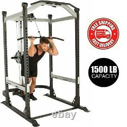 New Heavy Duty Olympic Power Cage PLUS Lat Pulldown, Dip Station FAST SHIPPING