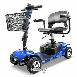 New Innuovo 4 Wheel Power Mobility Scooter Heavy Duty Travel Portable Blue