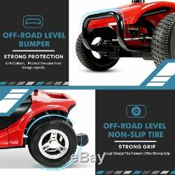 New Innuovo 4 Wheel Power Mobility Scooter Heavy Duty Travel Portable Red