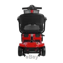 New Scout 4 Wheel Travel Compact Handicap Power Scooter folding Heavy Duty MA