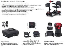 Outdoor Power Mobility Scooter 4 Wheels Travel compact Scooter WithSwivel seat
