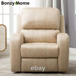 Oversize Power Recliner Chair Air Suede Overstuffed Heavy Duty Sofa Soft Comfy
