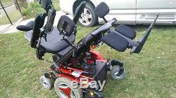 PERMOBIL M-300 Power Wheelchair Red 34'' SUPER STRONG HEAVY DUTY Mint Condition
