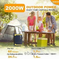 Pecron Q2000S 2000W Portable Power Station Heavy Duty Backup Solar Generator